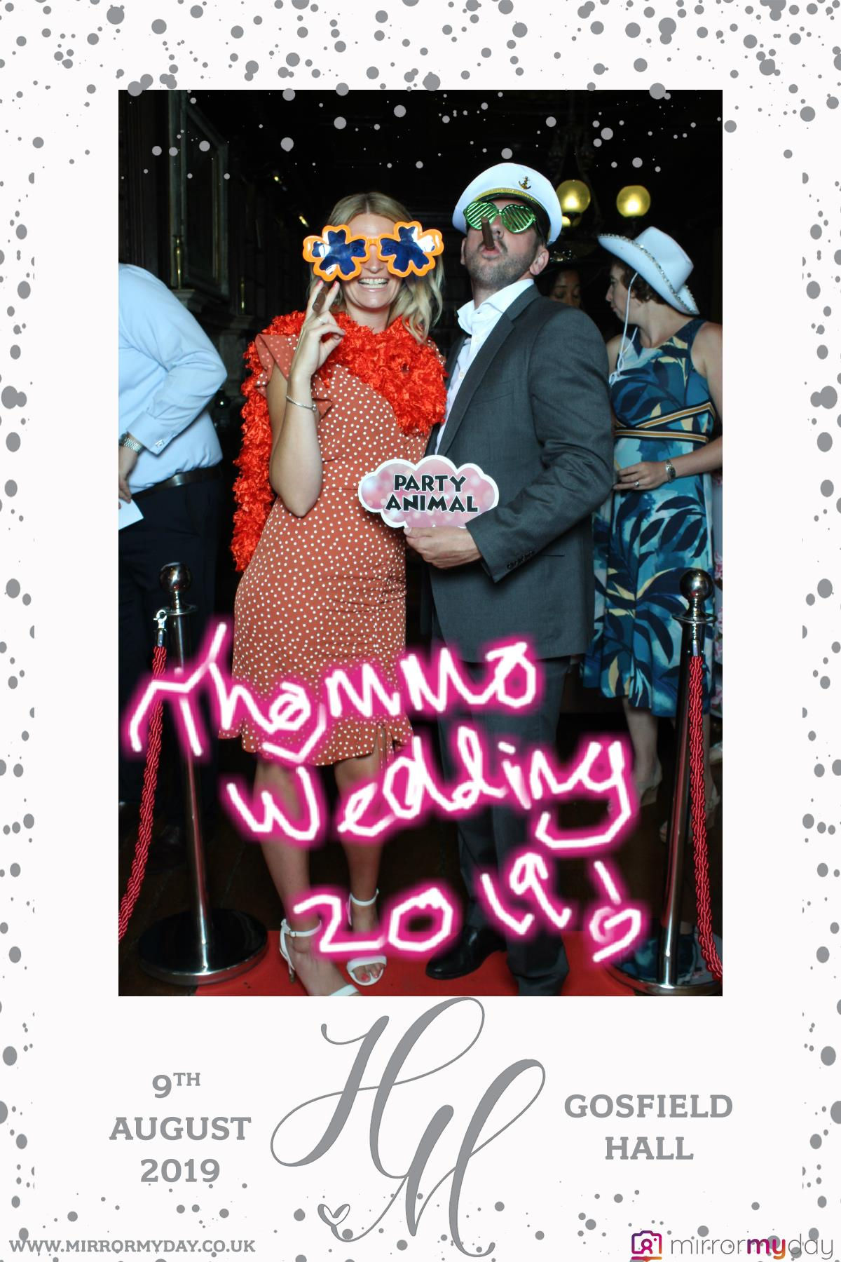 wedding, gosfield hall, photobooth, mirror me, mirror my day